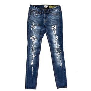Indigo Rein Skinny Jeans Distressed Size 7